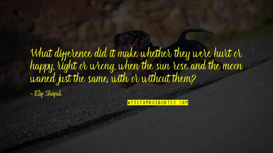 Happy Without Them Quotes By Elif Shafak: What difference did it make whether they were