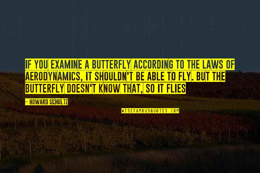 Hard Determinism Quotes By Howard Schultz: If you examine a butterfly according to the