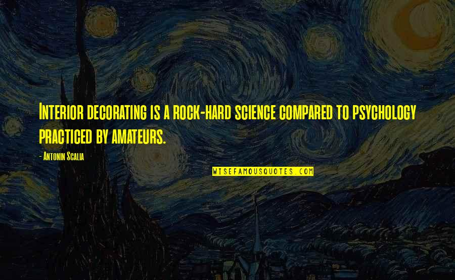 Hard Rock Quotes By Antonin Scalia: Interior decorating is a rock-hard science compared to