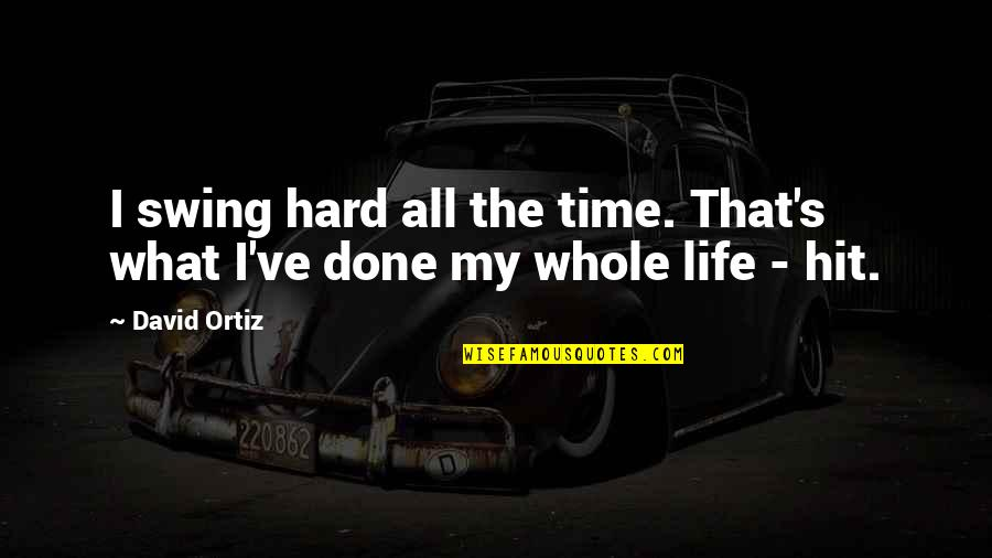 Hard Time Of Life Quotes By David Ortiz: I swing hard all the time. That's what