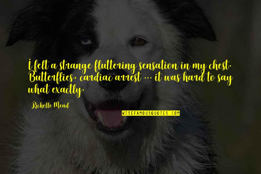Hard To Say Quotes By Richelle Mead: I felt a strange fluttering sensation in my
