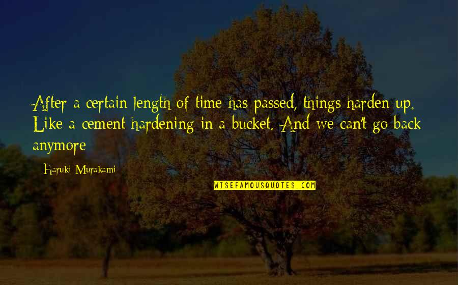 Harden The F Up Quotes By Haruki Murakami: After a certain length of time has passed,