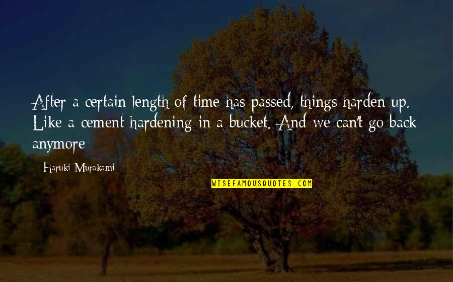 Harden Up Quotes By Haruki Murakami: After a certain length of time has passed,