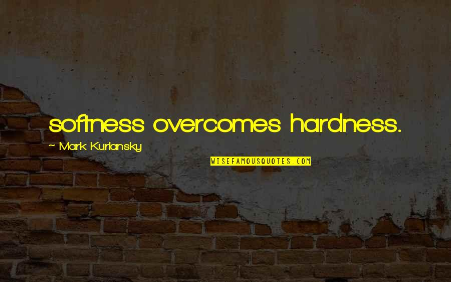 Hardness Quotes By Mark Kurlansky: softness overcomes hardness.