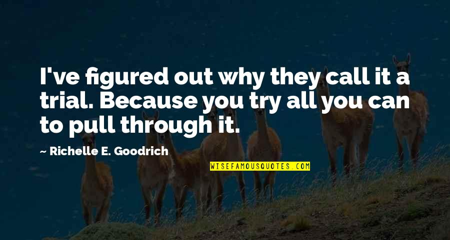 Hardship And Struggle Quotes By Richelle E. Goodrich: I've figured out why they call it a