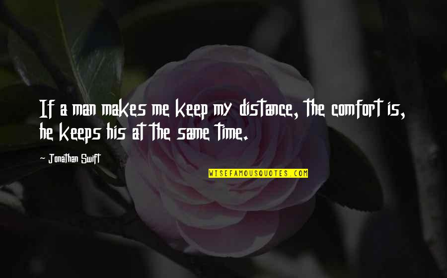 Hardware And Software Quotes By Jonathan Swift: If a man makes me keep my distance,