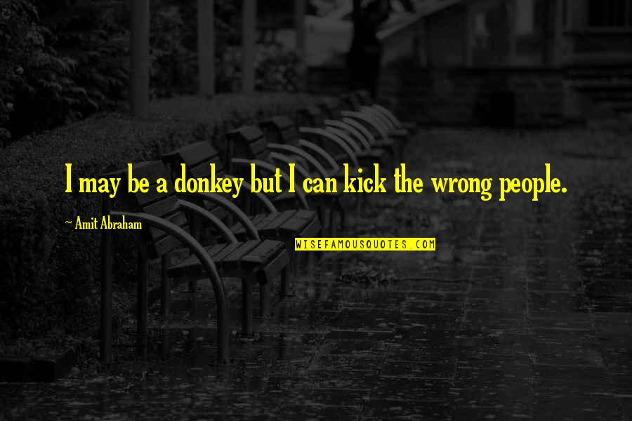 Hardworking Quotes By Amit Abraham: I may be a donkey but I can