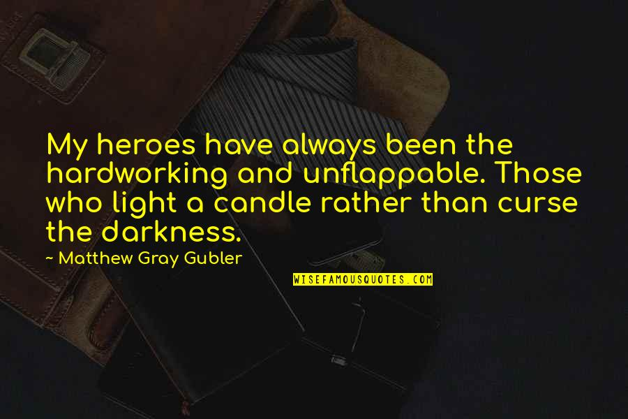 Hardworking Quotes By Matthew Gray Gubler: My heroes have always been the hardworking and
