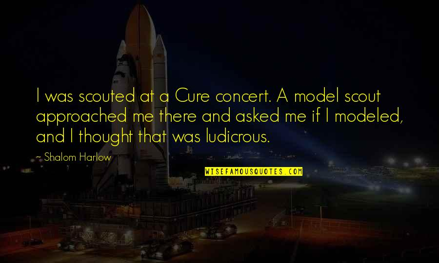 Harlow Quotes By Shalom Harlow: I was scouted at a Cure concert. A