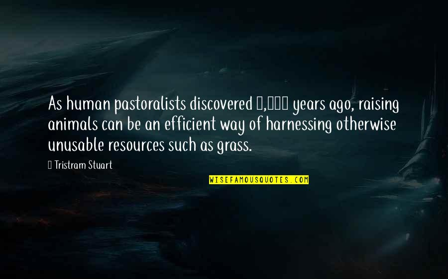 Harnessing Quotes By Tristram Stuart: As human pastoralists discovered 8,000 years ago, raising