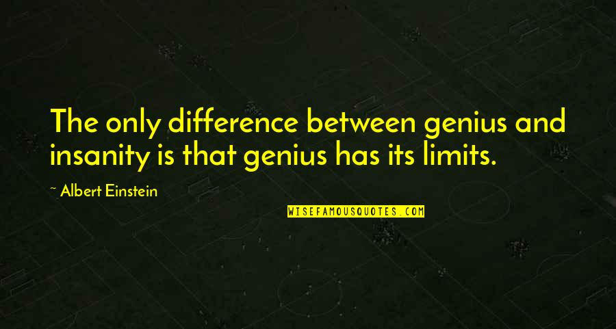 Harrison Ford Movie Quotes By Albert Einstein: The only difference between genius and insanity is