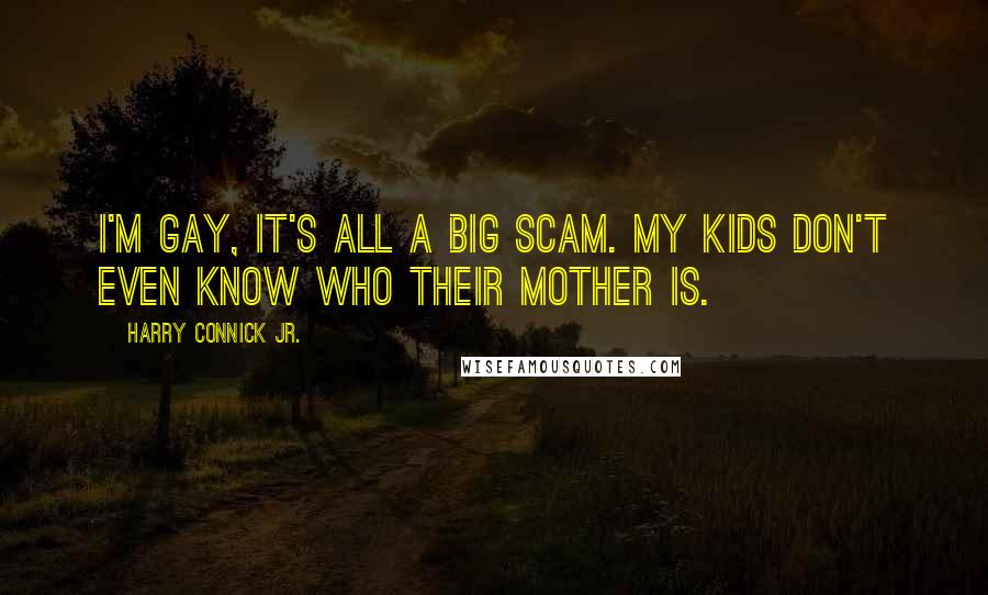 Harry Connick Jr. quotes: I'm gay, it's all a big scam. My kids don't even know who their mother is.