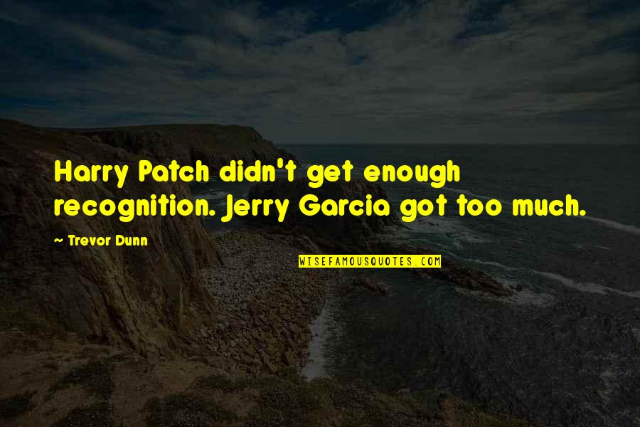 Harry Patch Quotes By Trevor Dunn: Harry Patch didn't get enough recognition. Jerry Garcia