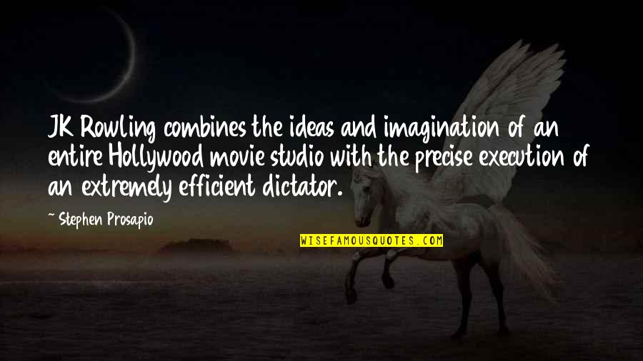 Harry Potter 7 Movie Quotes By Stephen Prosapio: JK Rowling combines the ideas and imagination of