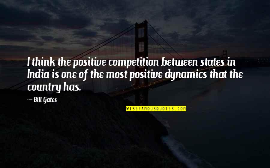 Harry Potter And The Philosopher's Stone Ron Weasley Quotes By Bill Gates: I think the positive competition between states in