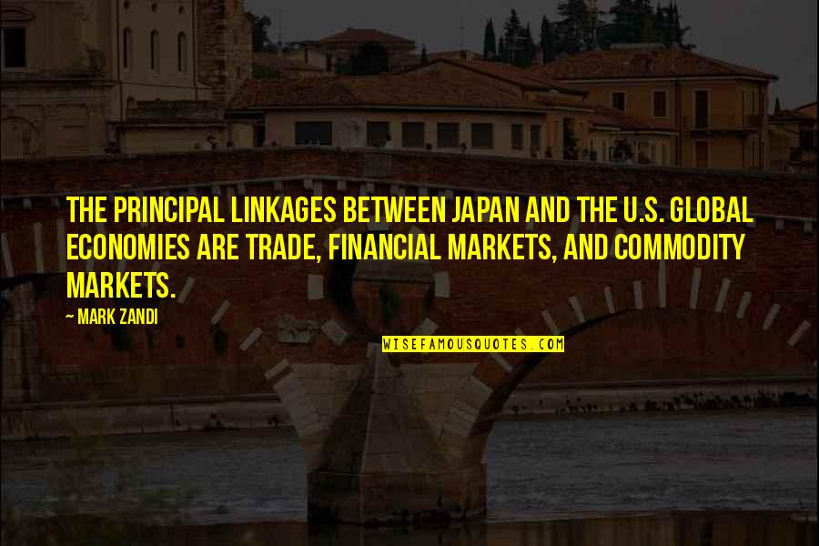 Harry Potter And The Philosopher's Stone Ron Weasley Quotes By Mark Zandi: The principal linkages between Japan and the U.S.