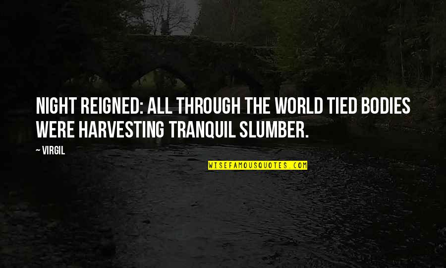 Harvesting Quotes By Virgil: Night reigned: all through the world tied bodies