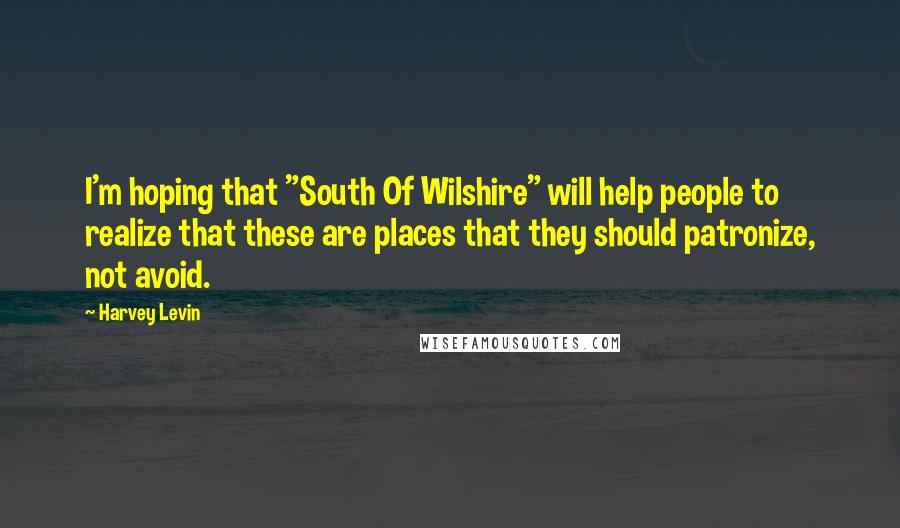 """Harvey Levin quotes: I'm hoping that """"South Of Wilshire"""" will help people to realize that these are places that they should patronize, not avoid."""
