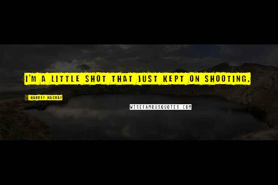 Harvey MacKay quotes: I'm a little shot that just kept on shooting.