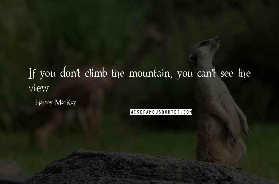 Harvey MacKay quotes: If you don't climb the mountain, you can't see the view