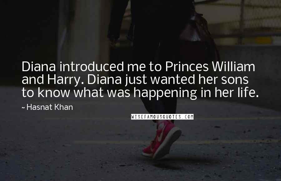 Hasnat Khan quotes: Diana introduced me to Princes William and Harry. Diana just wanted her sons to know what was happening in her life.