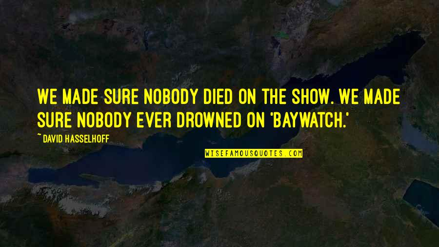 Hasselhoff Quotes By David Hasselhoff: We made sure nobody died on the show.