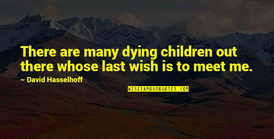 Hasselhoff Quotes By David Hasselhoff: There are many dying children out there whose