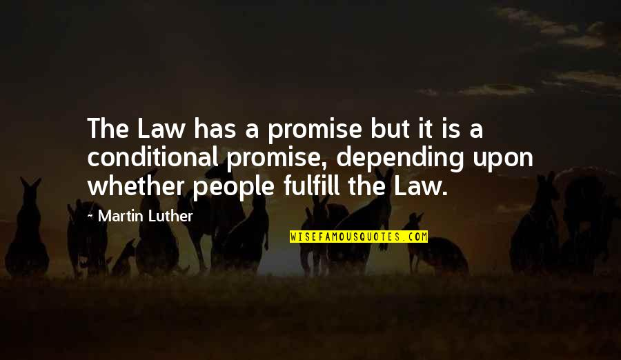 Hate Making Plans Quotes By Martin Luther: The Law has a promise but it is