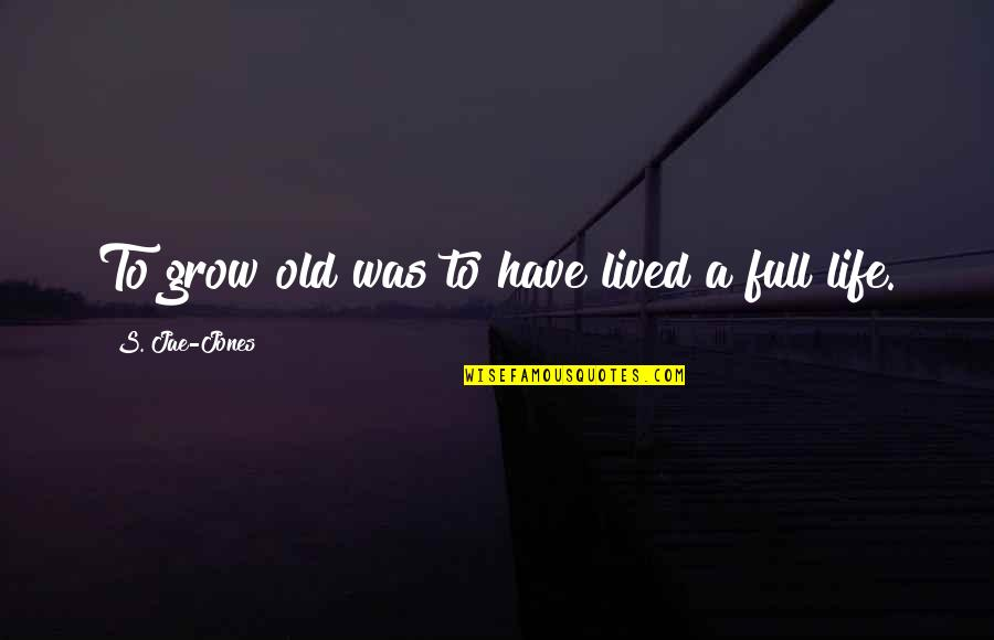 Hate Meetings Quotes By S. Jae-Jones: To grow old was to have lived a