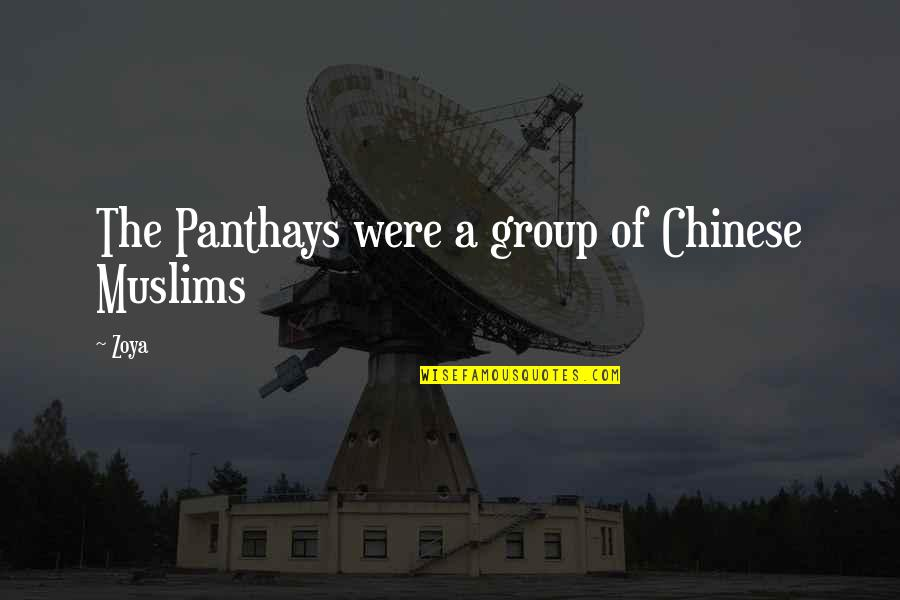 Haters By Celebrities Quotes By Zoya: The Panthays were a group of Chinese Muslims
