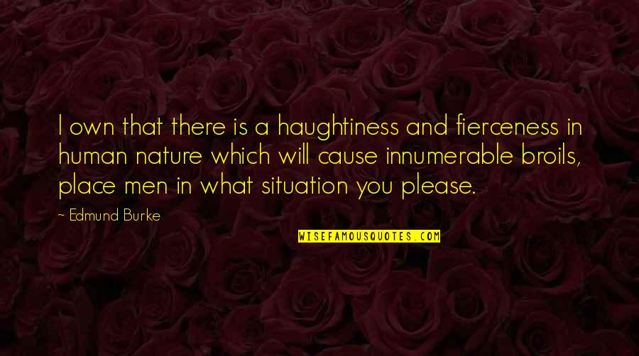 Haughtiness Quotes By Edmund Burke: I own that there is a haughtiness and