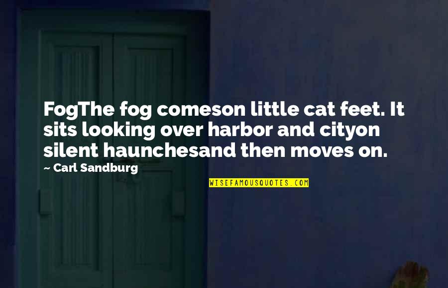 Haunches Quotes By Carl Sandburg: FogThe fog comeson little cat feet. It sits