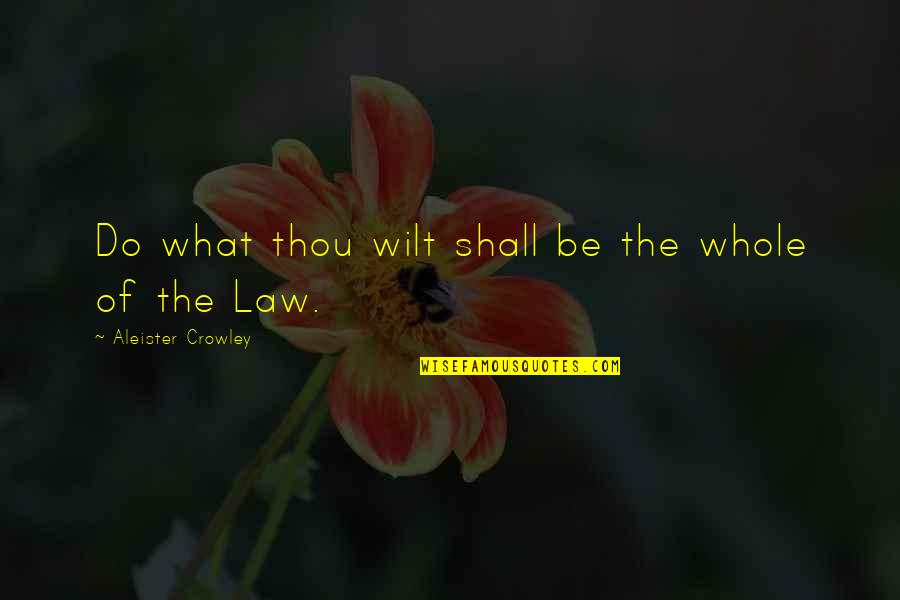 Have A Wonderful Day Honey Quotes By Aleister Crowley: Do what thou wilt shall be the whole