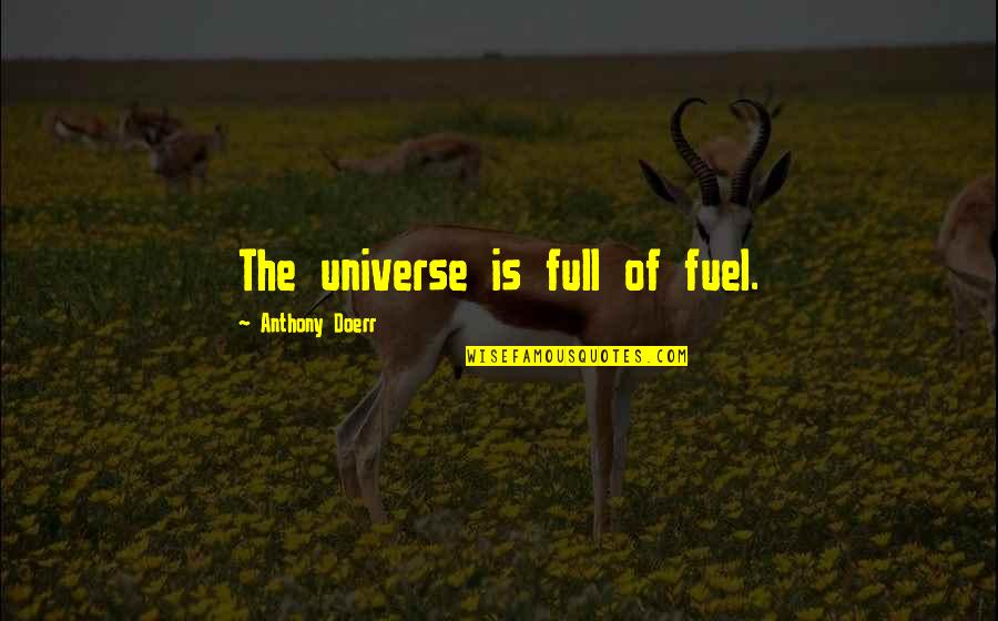 Haved Quotes By Anthony Doerr: The universe is full of fuel.