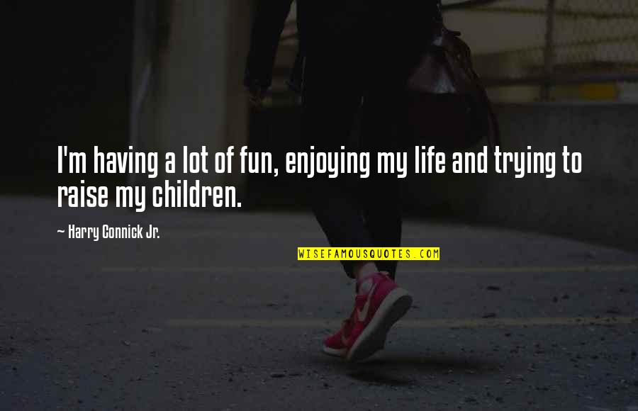 Having Fun In Life Quotes By Harry Connick Jr.: I'm having a lot of fun, enjoying my