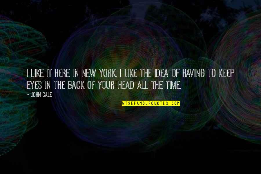 Having Your Back Quotes By John Cale: I like it here in New York. I