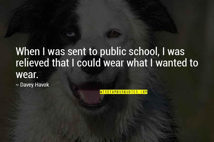 Havok Quotes By Davey Havok: When I was sent to public school, I