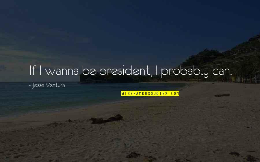Hawak Kamay Tagalog Quotes By Jesse Ventura: If I wanna be president, I probably can.