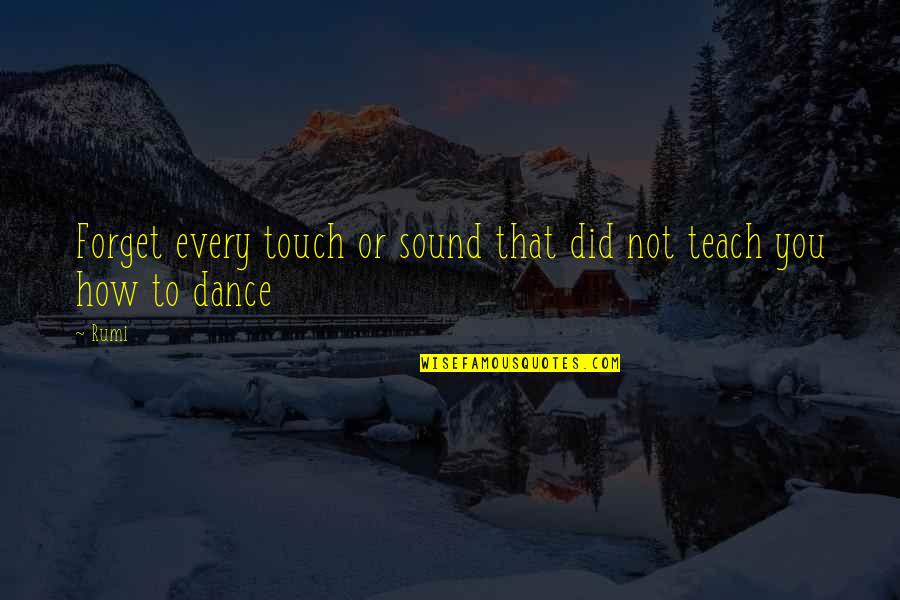 Hawkesworth's Quotes By Rumi: Forget every touch or sound that did not