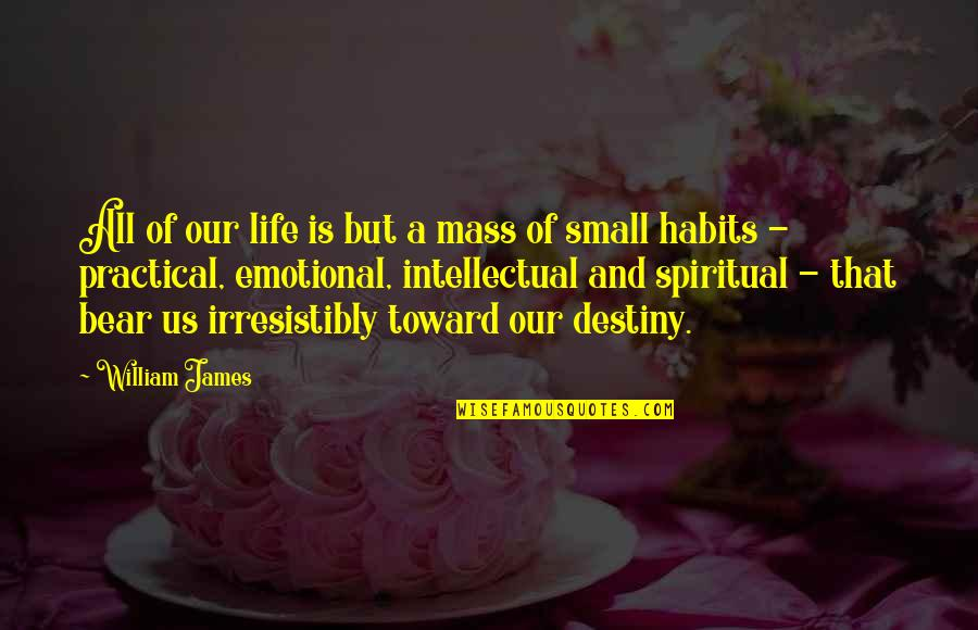 Haze Weed Quotes By William James: All of our life is but a mass