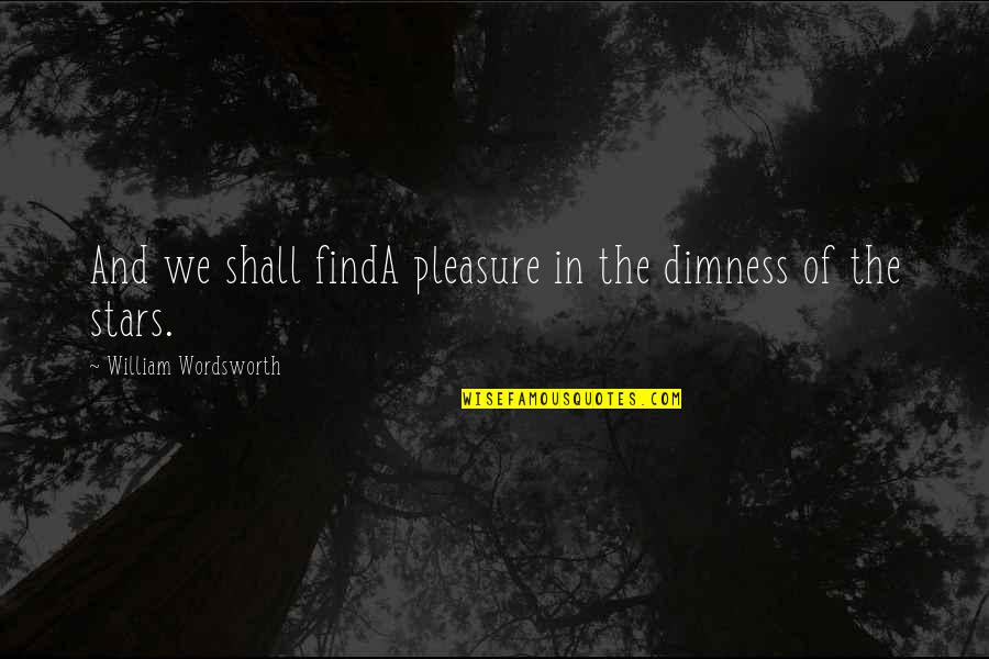 Haze Weed Quotes By William Wordsworth: And we shall findA pleasure in the dimness