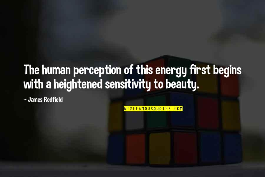 Hcf Dental Quotes By James Redfield: The human perception of this energy first begins