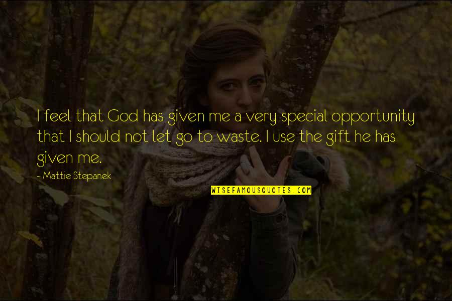 He Has Me Quotes By Mattie Stepanek: I feel that God has given me a
