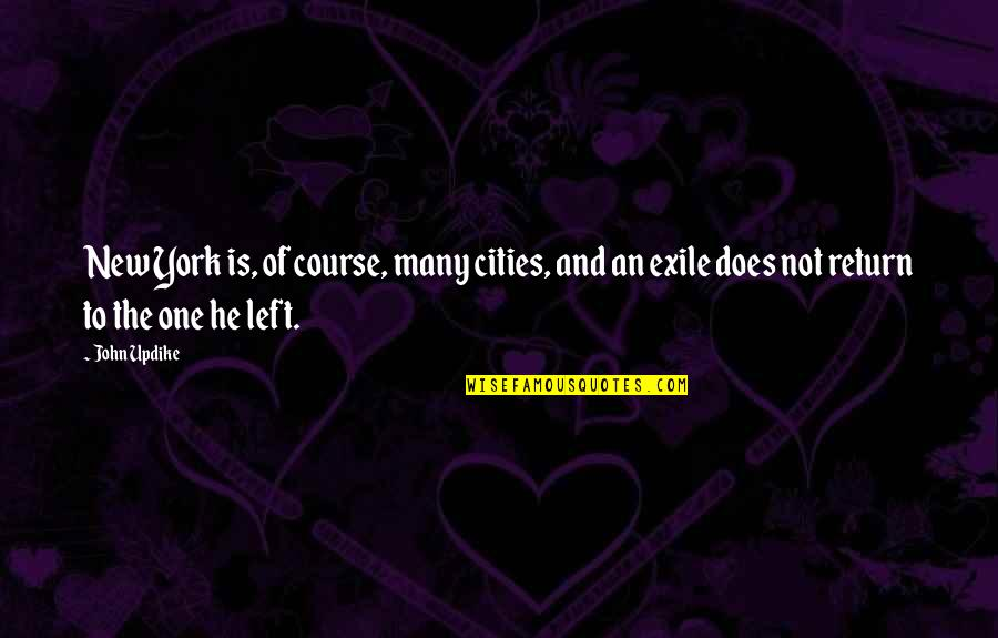 He Left Quotes By John Updike: New York is, of course, many cities, and