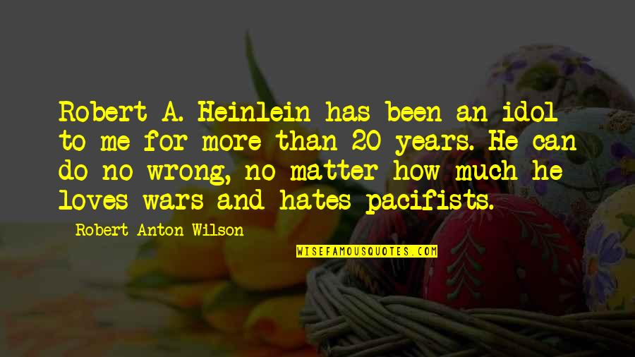 He Loves Me Not U Quotes By Robert Anton Wilson: Robert A. Heinlein has been an idol to