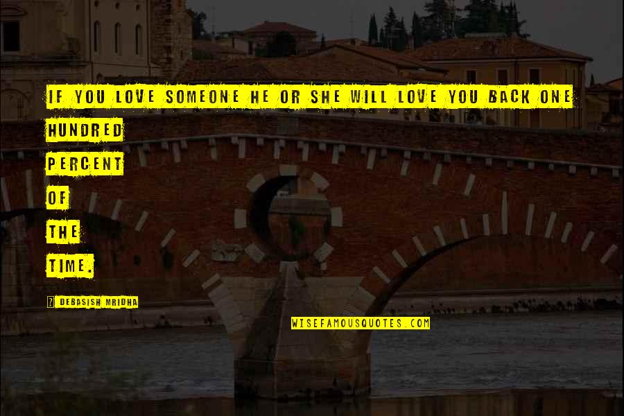 He She Quotes By Debasish Mridha: If you love someone he or she will