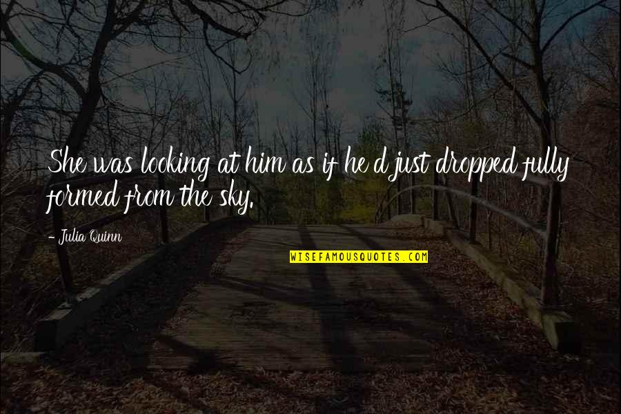He She Quotes By Julia Quinn: She was looking at him as if he'd