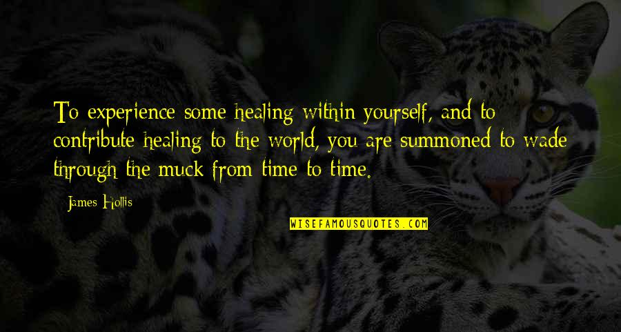 Healing The World Quotes By James Hollis: To experience some healing within yourself, and to
