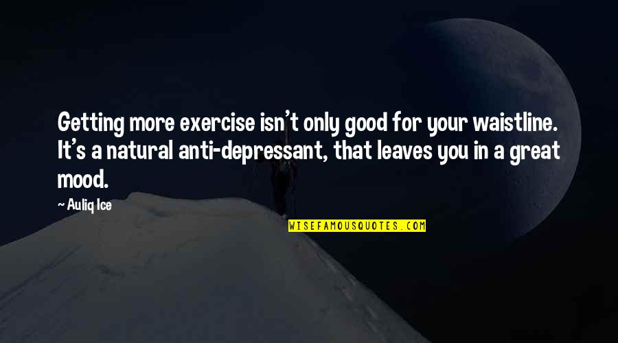 Health And Fitness Inspirational Quotes By Auliq Ice: Getting more exercise isn't only good for your