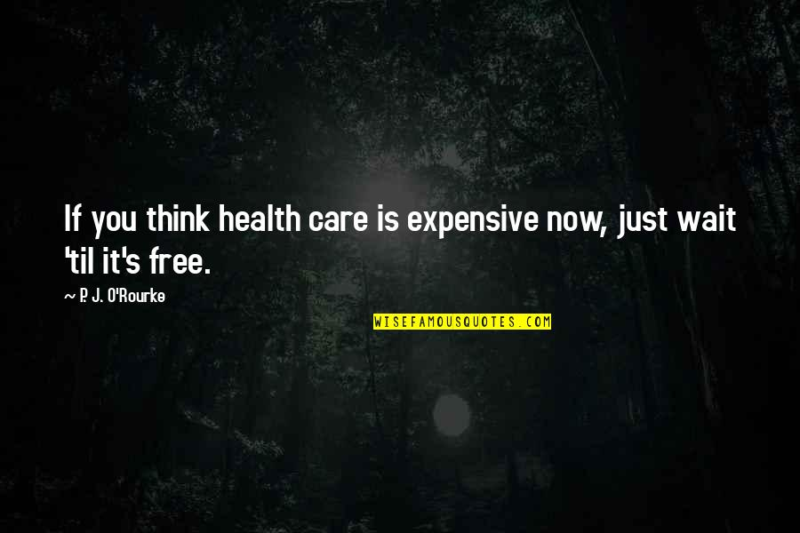 Health Expensive Quotes By P. J. O'Rourke: If you think health care is expensive now,